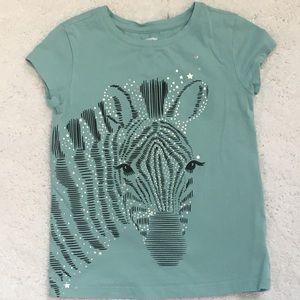 Girls Zebra Graphic Tee